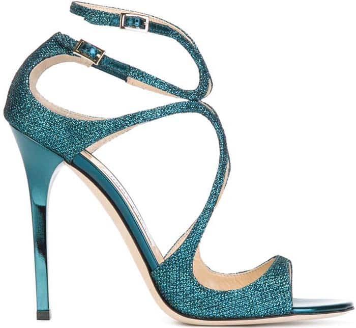 Jimmy Choo Lance Glitter Sandals