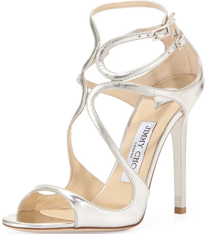 Jimmy Choo Lance Strappy Sandals in Silver