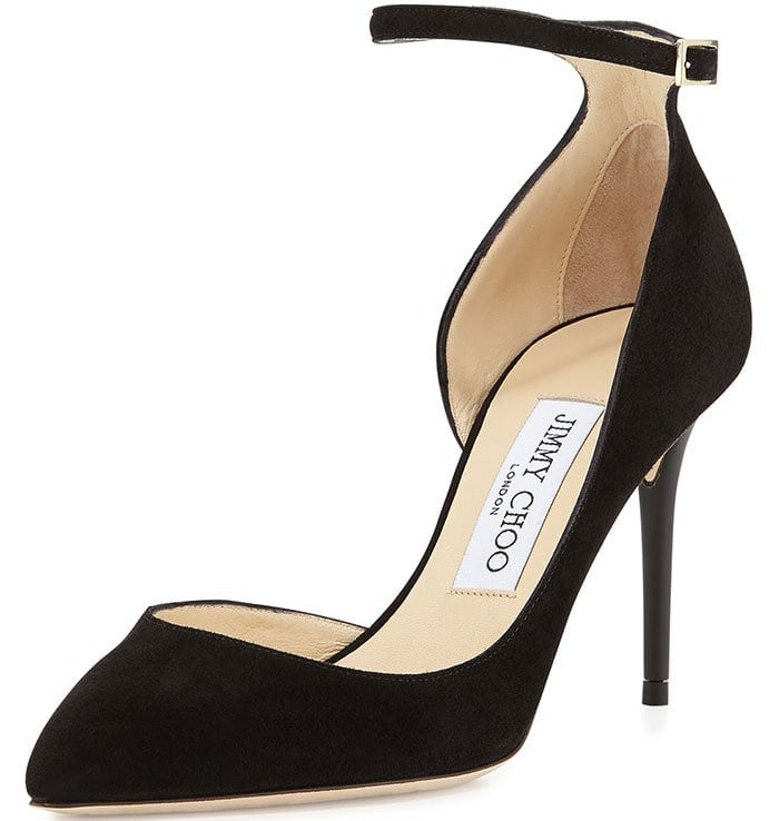 Timeless black ankle silhouette from Jimmy Choo in sumptuous suede