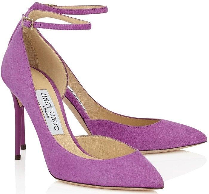 Jimmy Choo Lucy purple pump