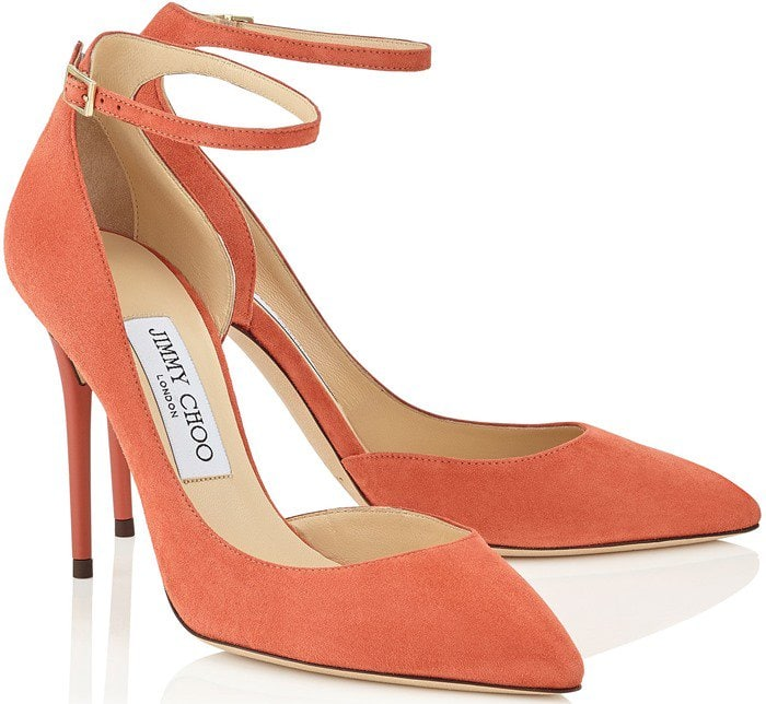 Jimmy Choo's 'Lucy' pumps have been crafted in Italy from sumptuous suede and designed with flattering d'Orsay cutouts