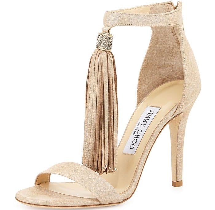 "Jimmy Choo ""Viola"" Tasseled Sandals"