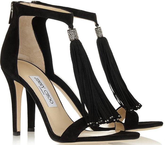 Jimmy-Choo-Viola-crystal-embellished-tasseled-suede-sandals