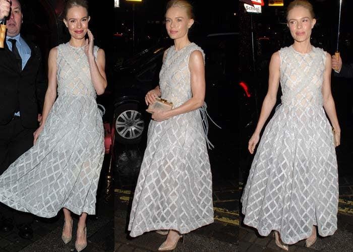 Kate Bosworth wears a Simone Rocha dress to a London outing