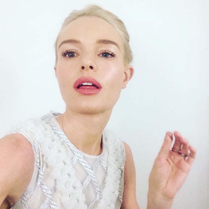 Kate Bosworth's signature, white-blonde tresses