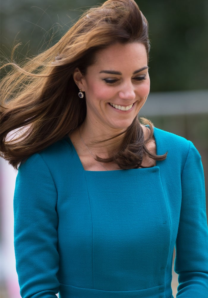 Kate Middleton wears her hair down as she visits the organization Action on Addiction