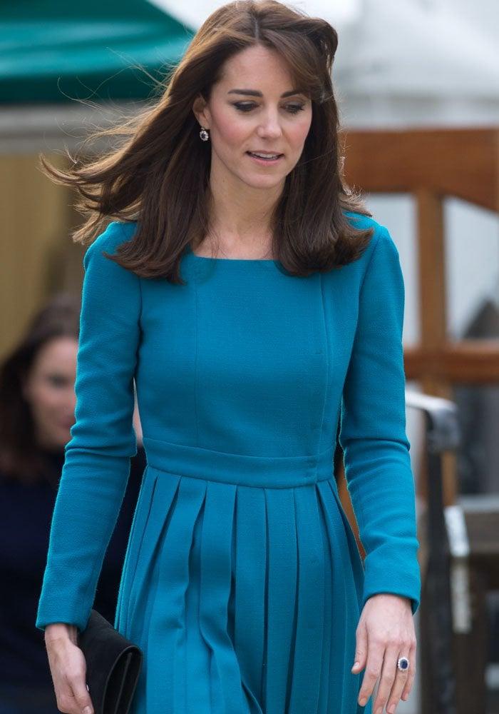Kate Middleton Two Events Stuart Weitzman 2