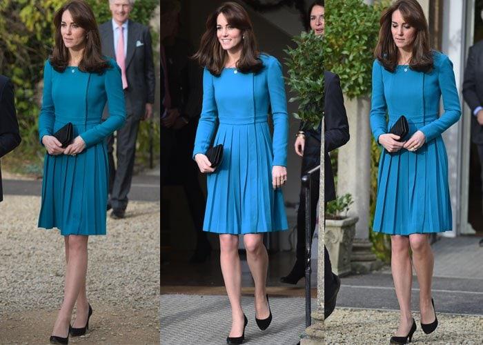 Kate Middleton Two Events Stuart Weitzman 3