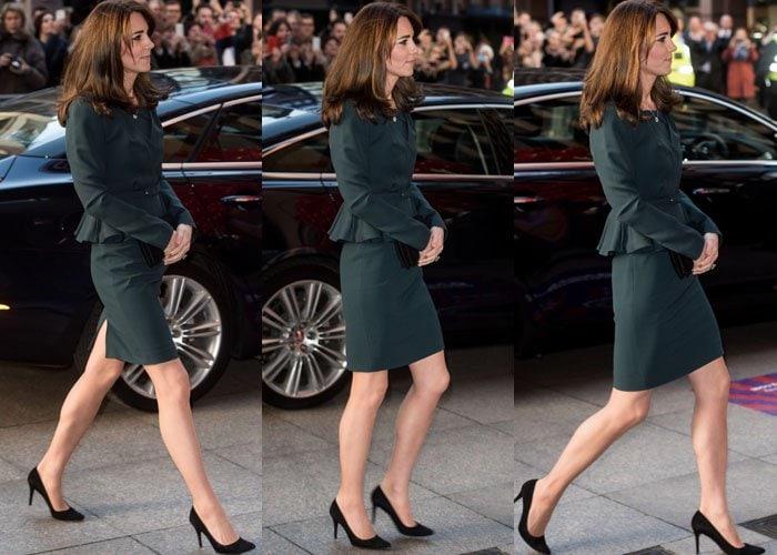 Kate Middleton Two Events Stuart Weitzman 5