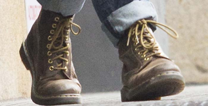 Keira Knightley's feet in Dr. Martens boots