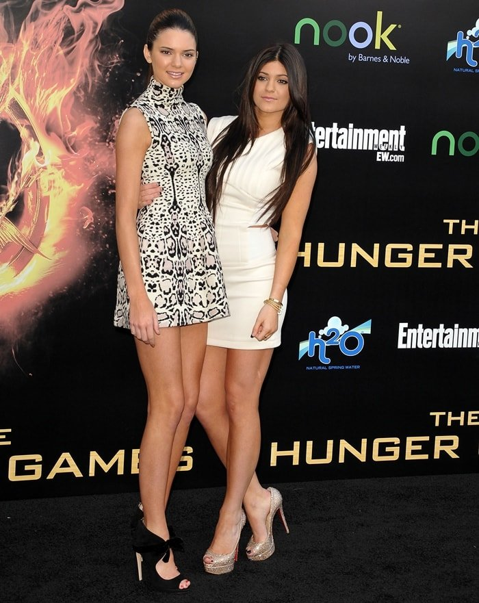 Sisters Kylie and Kendall Jenner met Hailey Baldwin for the first time while attending the premiere for Hunger Games in March 2012