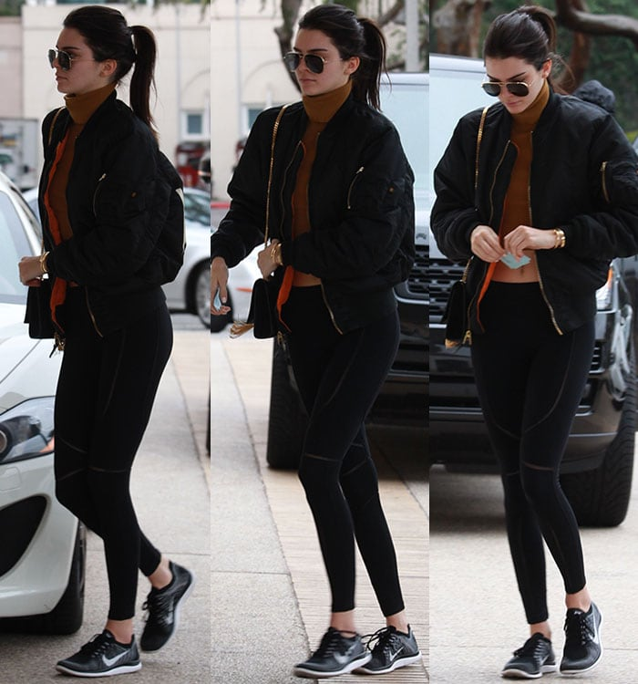 Kendall-Jenner-midriff-crop-top-leggings-1