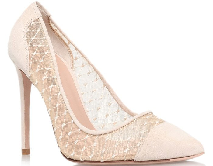 Kurt Geiger London Sharkie Cap Toe Pumps Nude