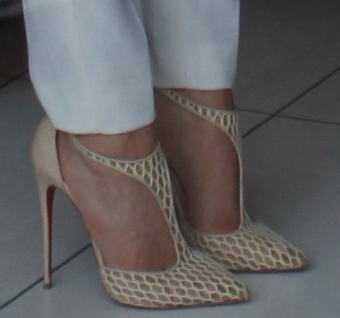 Kylie Jenner's feet in Christian Louboutin pumps