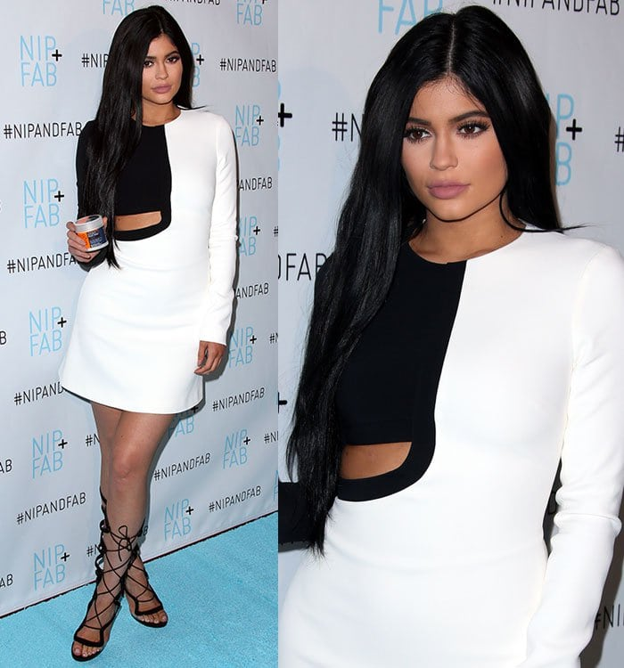 Kylie Jenner shows some skin in a '60s-style David Koma minidress