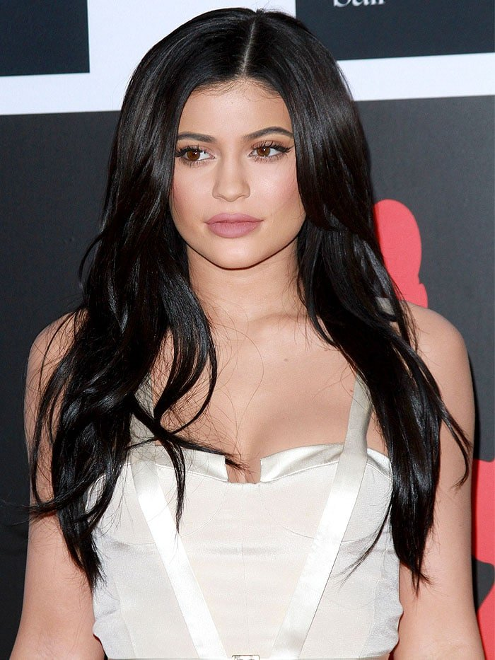 Kylie Jenner Hits Diamond Ball In Champagne Satin Gown