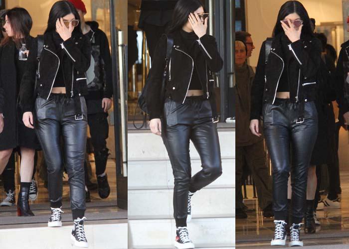 9bdc37d4cb99 Kylie Jenner Shops in Comme Des Garcons Play X Converse