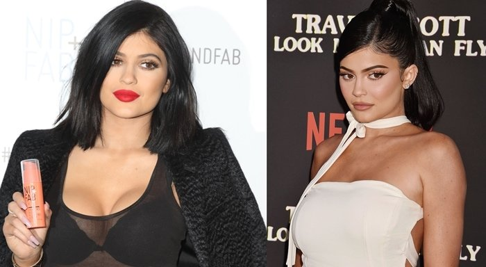 Kylie Jenner shows off her curves in March 2015 (L) and in August 2019 (R)