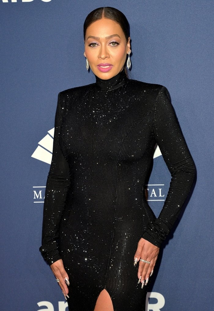 Spanish-speaking television personality La La Anthony attends the 2020 amfAR New York Gala