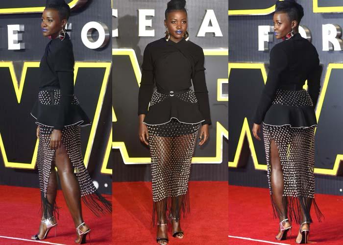 Lupita Nyongo Star Wars London Giuseppe Zanotti 2
