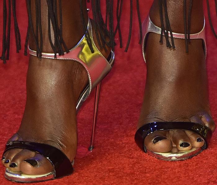 Lupita Nyongo Star Wars London Giuseppe Zanotti 3