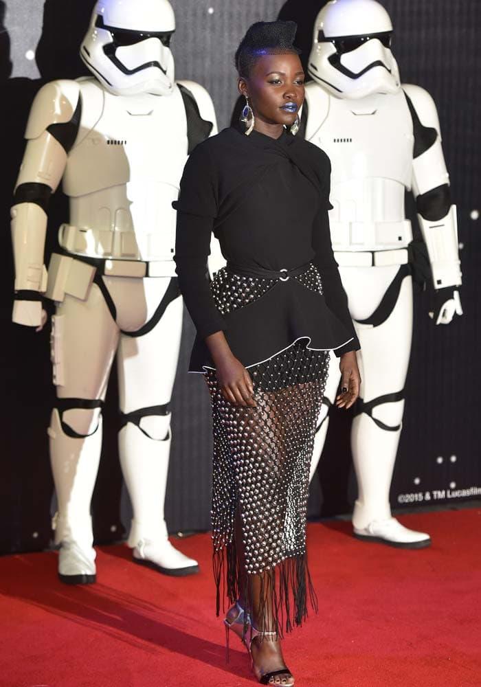 Lupita Nyongo Star Wars London Giuseppe Zanotti 4