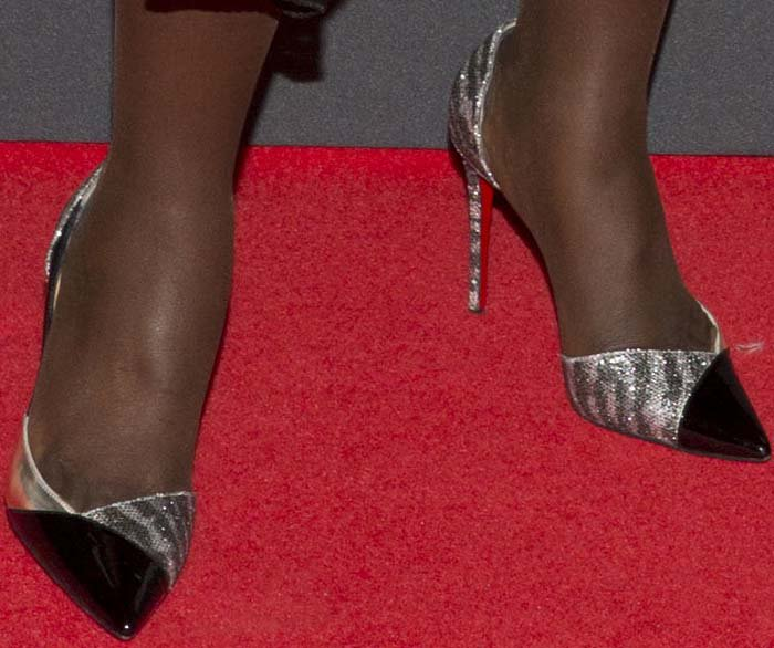 Lupita Nyong'o showed off her feet in Christian Louboutin heels