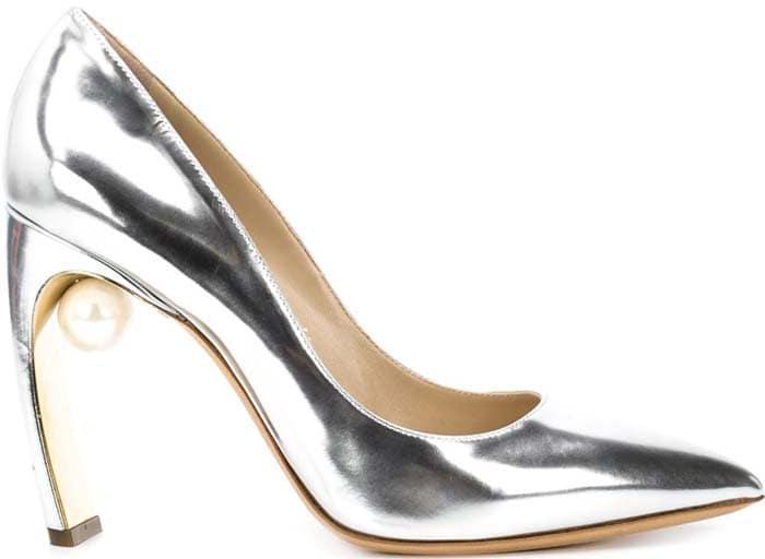 Nicholas Kirkwood Maeva Pearl Heels Silver