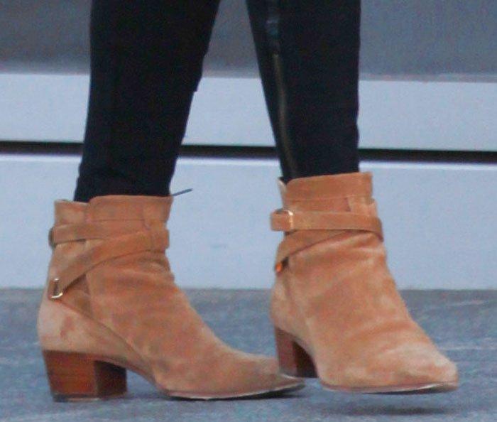 Nicky Hilton rocks Western-style ankle booties