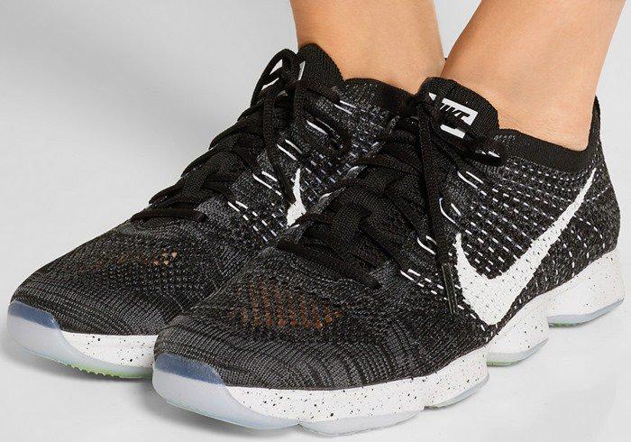 """Nike """"Flyknit Zoom Agility"""" Mesh Sneakers"""