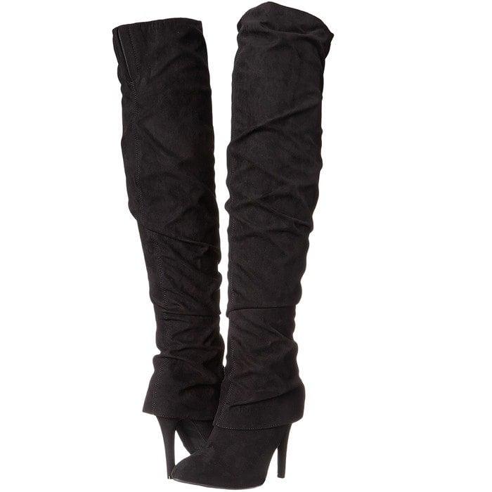 Nina 'Kymari' Over the Knee Pointy Toe Boot
