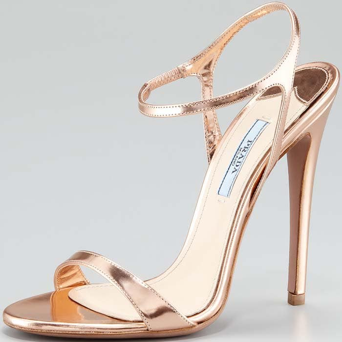 Prada Capretto Leather Sandals
