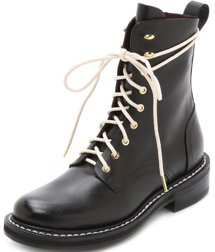 Rag & Bone Emil Leather Combat Boots