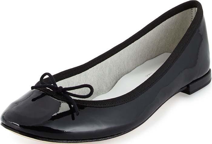 """Repetto """"Cendrillon"""" Patent Ballet Flat in Black"""