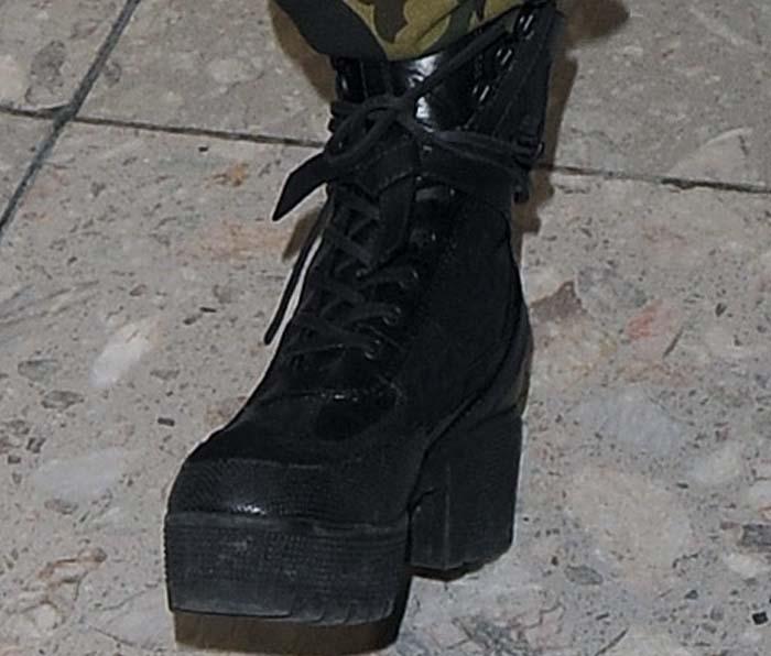 Rita Ora's feet in Louis Vuitton boots