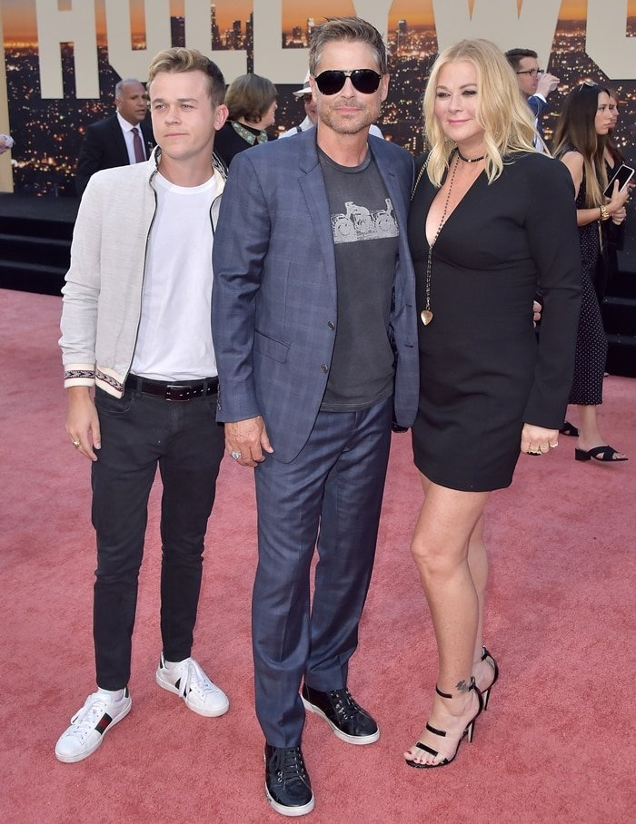 Rob Lowe (C) with his son John Owen Lowe and his wife Sheryl Berkoff