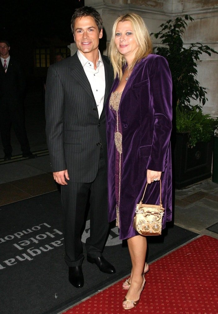 Rob Lowe with his wife Sheryl Berkoff in London
