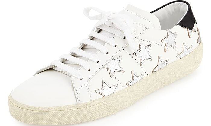 Saint-Laurent-Glitter-Stars-Leather-Sneakers