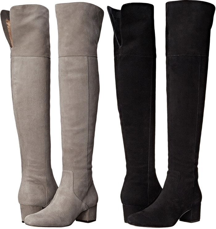 Sophisticated Sam Edelman over-the-knee boots cut from smooth suede