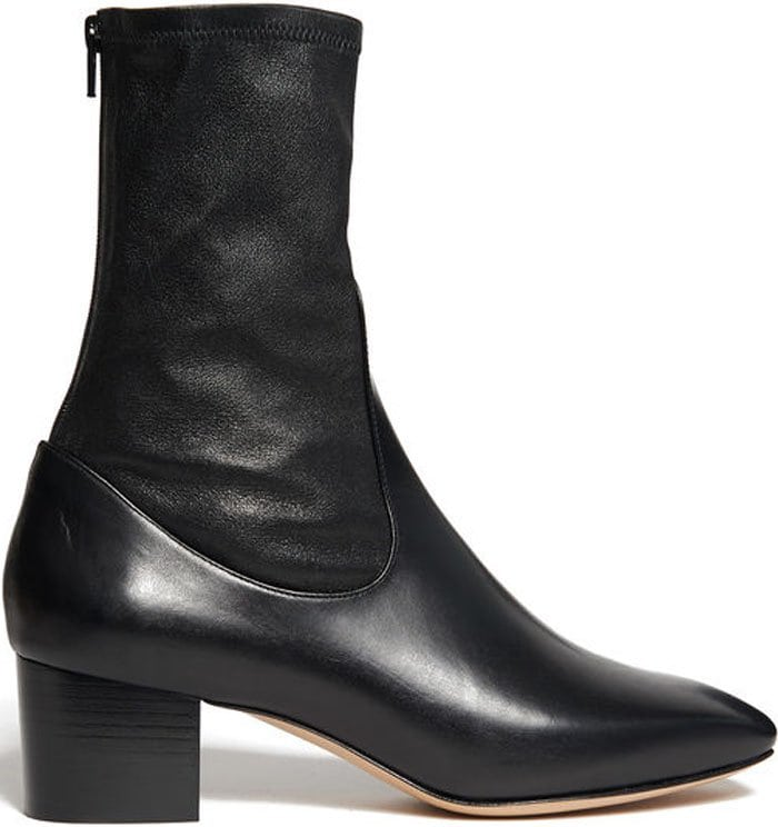 Ultra-stylish black ankle boots by French brand Sandro