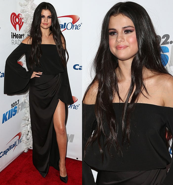 Selena Gomez wears a Camilla and Marc ensemble on the red carpet