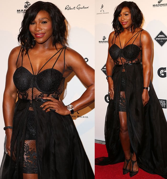 Serena-Williams-racy-black-lace-dress