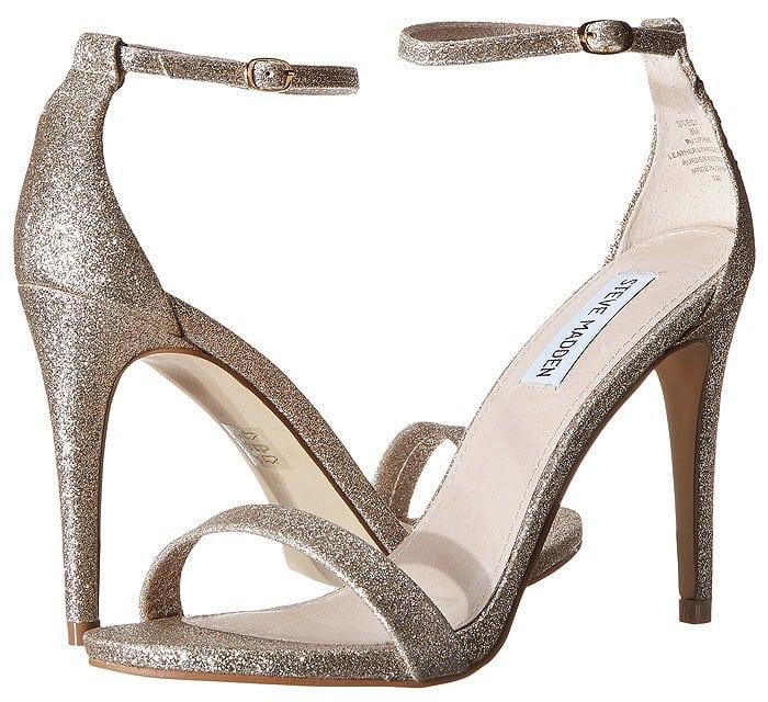 "Steve Madden ""Stecy"" Sandals in Gold Glitter"
