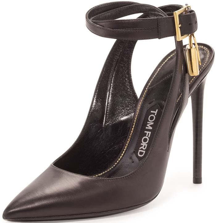Tom Ford Leather Ankle Lock Pump