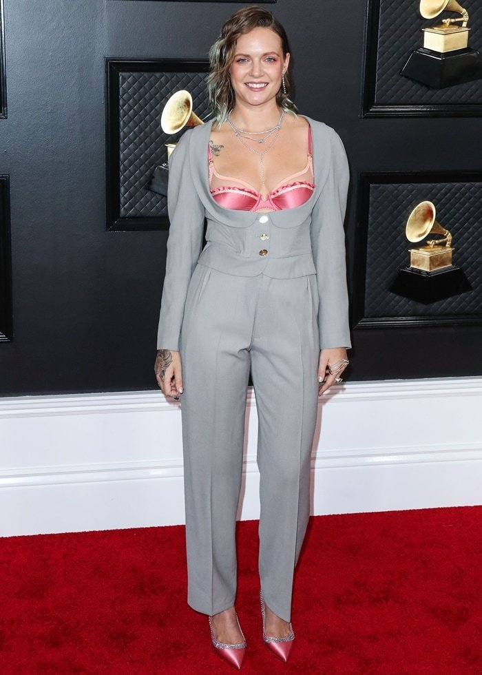Tove Lo in a Vivienne Westwood pantsuit at the 62nd Annual GRAMMY Awards