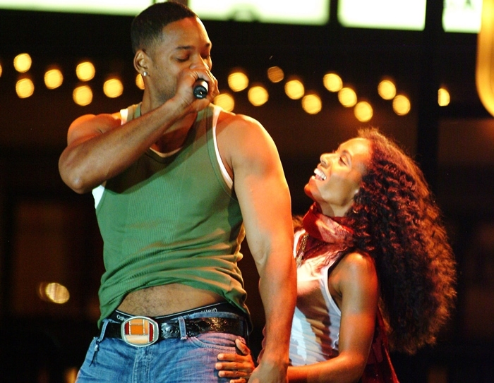 Will Smith and Jada Pinkett Smith performing at the 'Summer Concert Series'