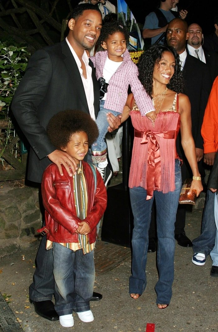Will Smith and Jada Pinkett Smith with Jayden and Willow