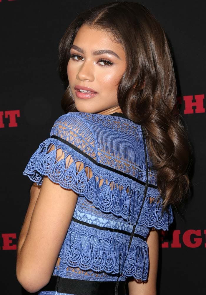 Zendaya shows off her winged eyeliner with a sultry look