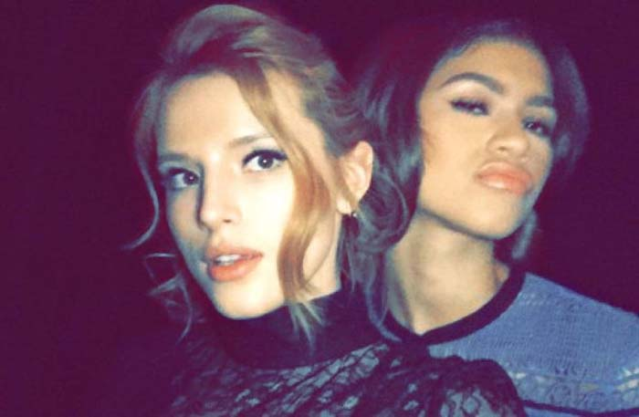 Bella Thorne shares a picture on Instagram of her friend Zendaya