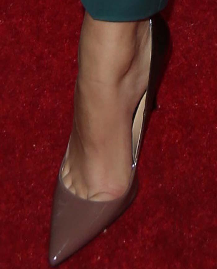 Zendaya's feet in Sole of Daya pumps